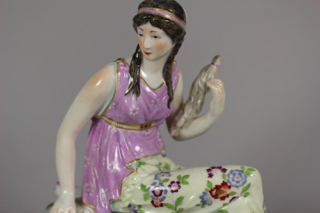 Meissen Porcelain Figural Shelf Clock ca. 1900 - 3