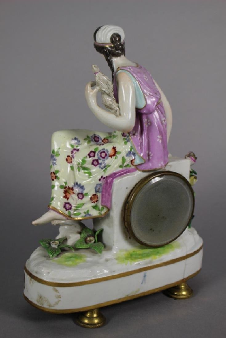 Meissen Porcelain Figural Shelf Clock ca. 1900 - 4