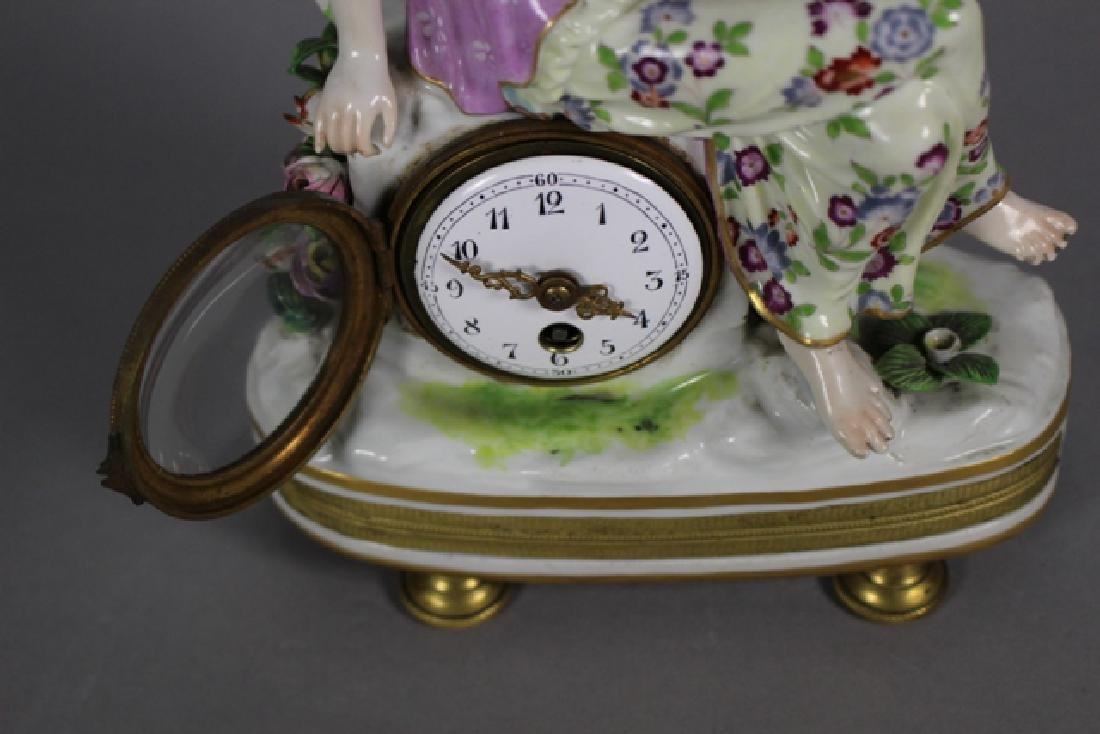 Meissen Porcelain Figural Shelf Clock ca. 1900 - 8