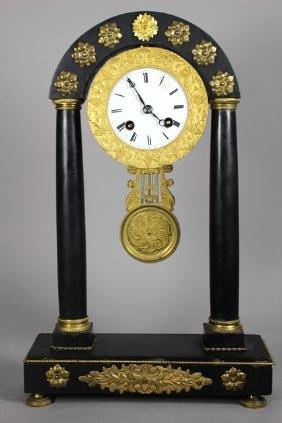 19th Century French Empire Slate Mantel Clock