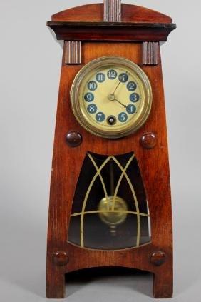 Hamburg American Clock Co. Arts & Crafts Shelf Clock