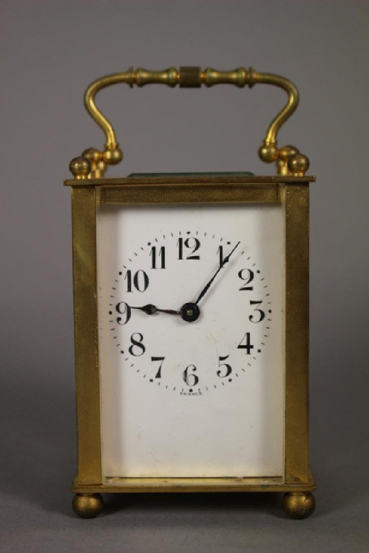 19th C. Duverdrey & Bloquel French Brass Carriage Clock