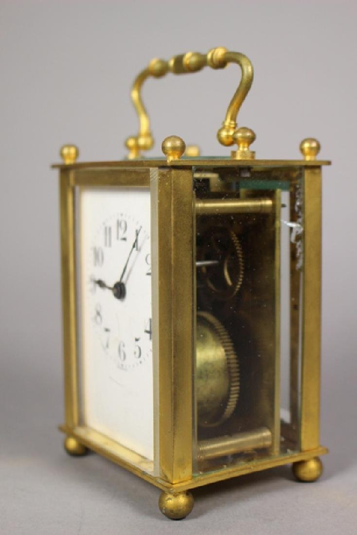 19th C. Duverdrey & Bloquel French Brass Carriage Clock - 3