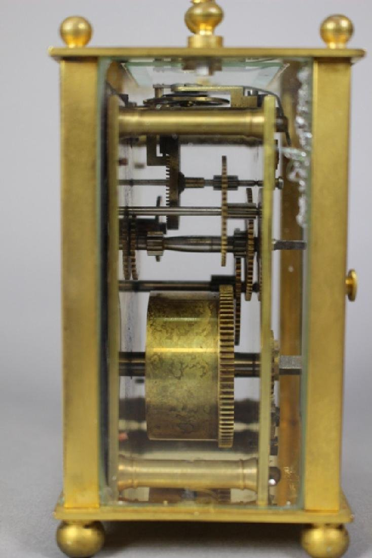 19th C. Duverdrey & Bloquel French Brass Carriage Clock - 4