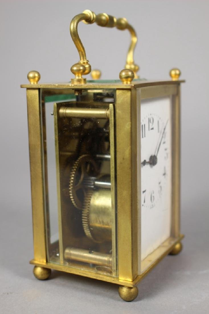 19th C. Duverdrey & Bloquel French Brass Carriage Clock - 6