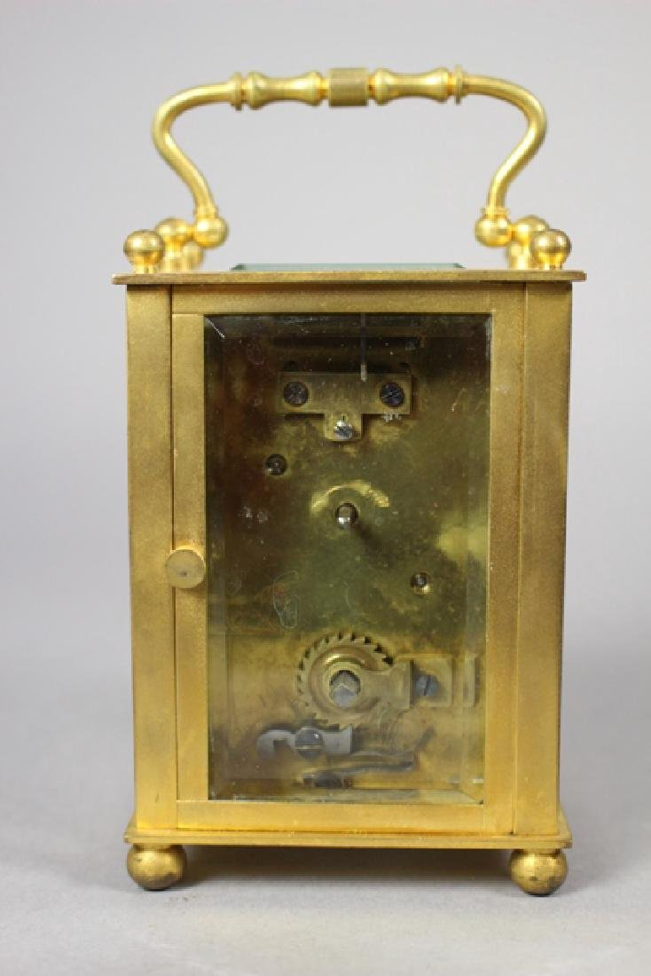 19th C. Duverdrey & Bloquel French Brass Carriage Clock - 7