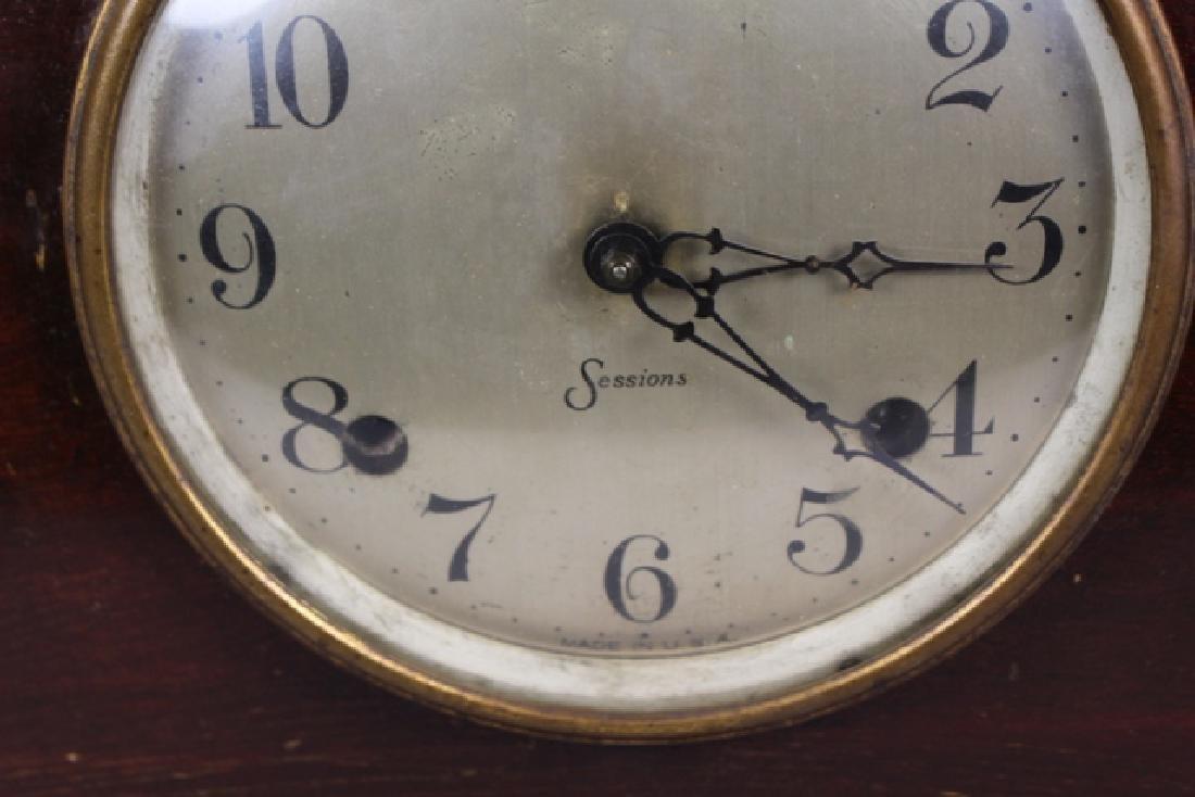 Sessions Mahogany Mantel Clock - 3