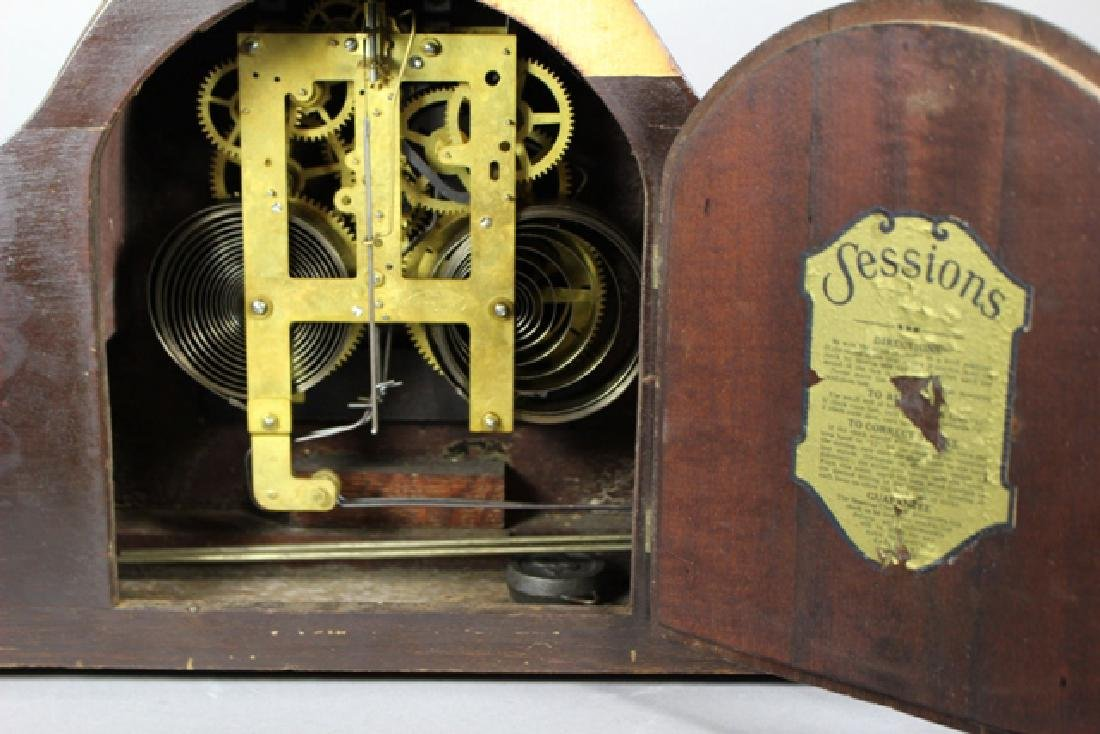 Sessions Mahogany Mantel Clock - 7
