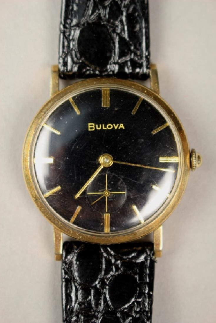 Bulova Men's Wrist Watch with Alligator Skin Strap