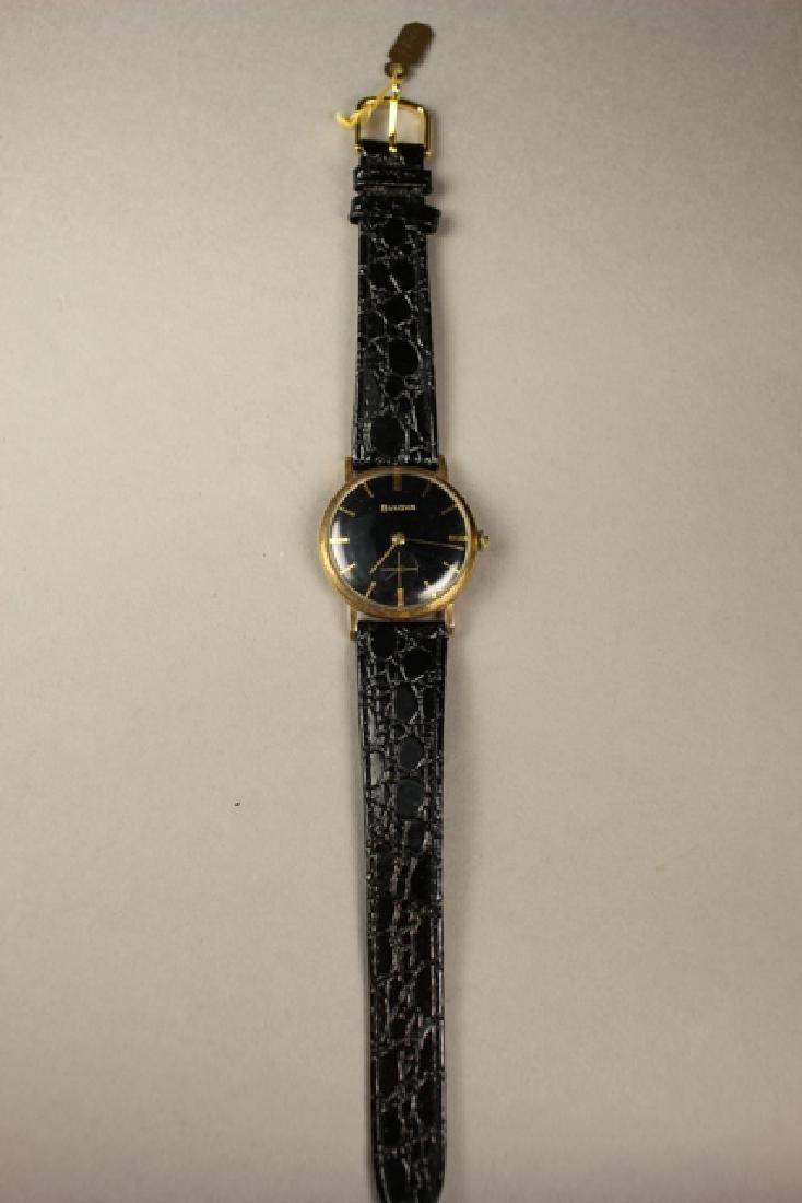Bulova Men's Wrist Watch with Alligator Skin Strap - 2