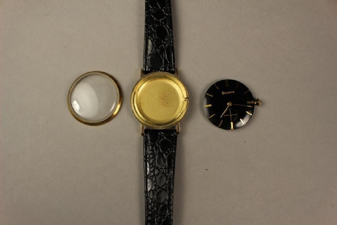 Bulova Men's Wrist Watch with Alligator Skin Strap - 4