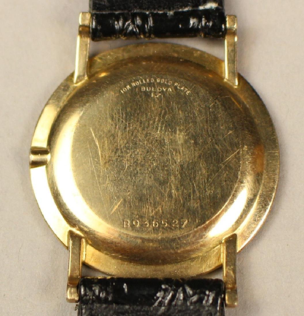 Bulova Men's Wrist Watch with Alligator Skin Strap - 7