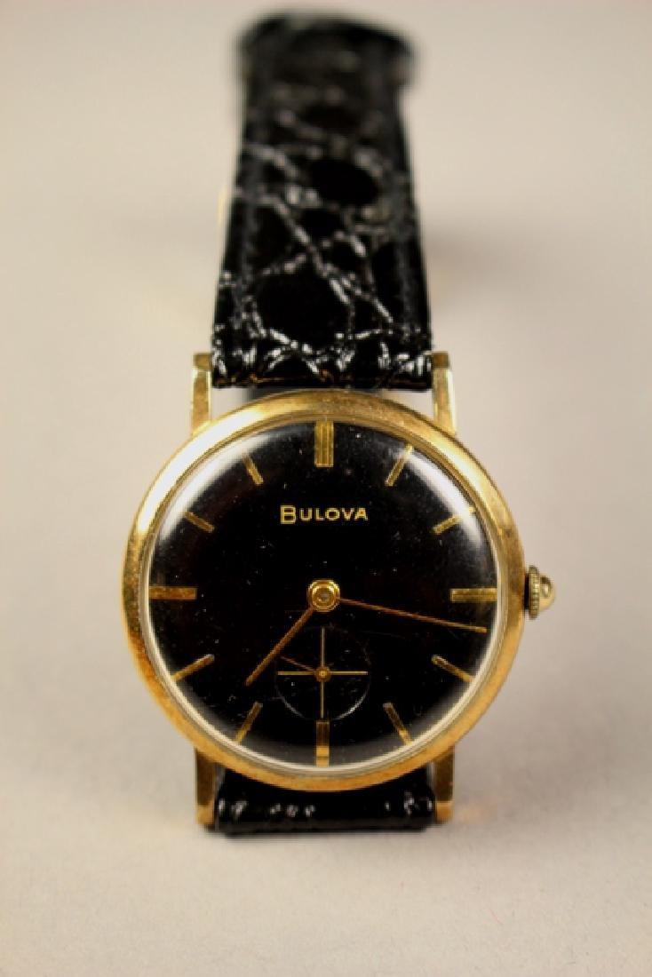 Bulova Men's Wrist Watch with Alligator Skin Strap - 8