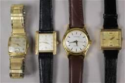 Group of Four Men's Vintage Hamilton Watches