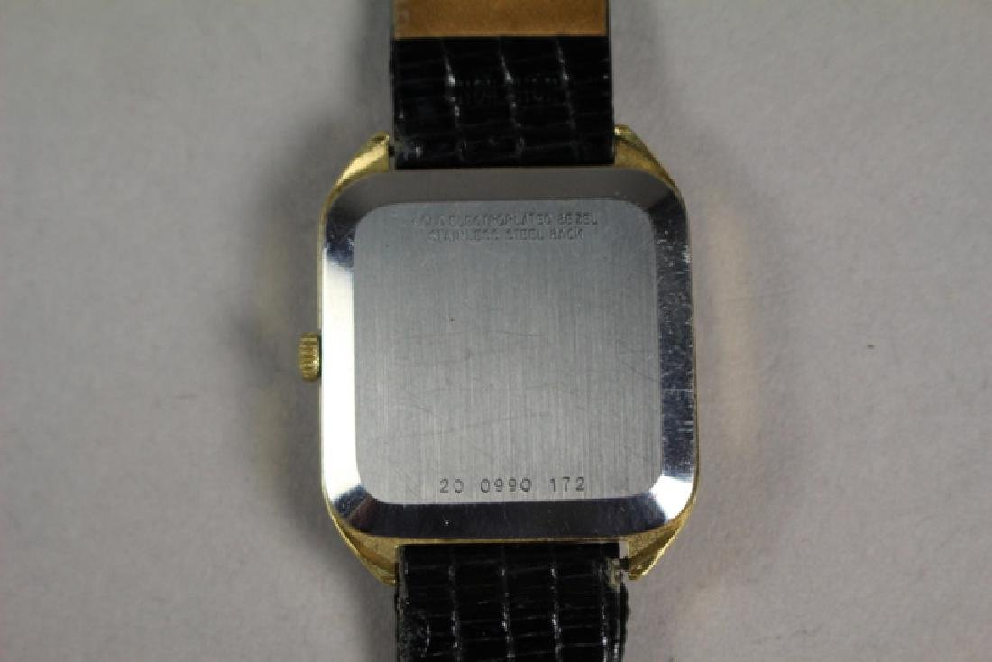 Movado Gold Plated Men's Watch with Lizard Strap - 5
