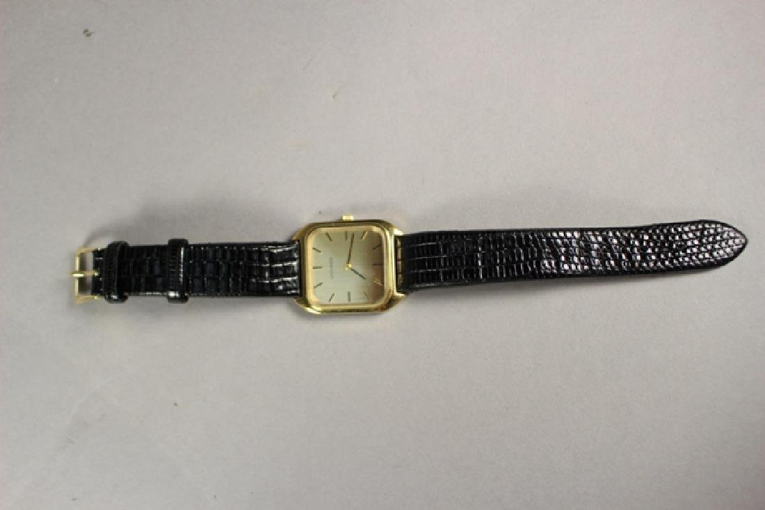 Movado Gold Plated Men's Watch with Lizard Strap - 6