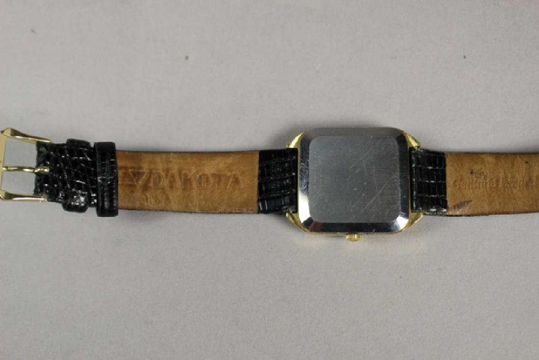 Movado Gold Plated Men's Watch with Lizard Strap - 7