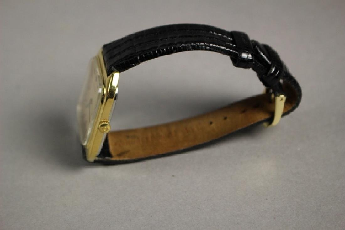 Movado Gold Plated Men's Watch with Lizard Strap - 9