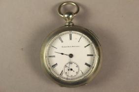 Elgin Pocket Watch in Deuber Silverine Watch Case