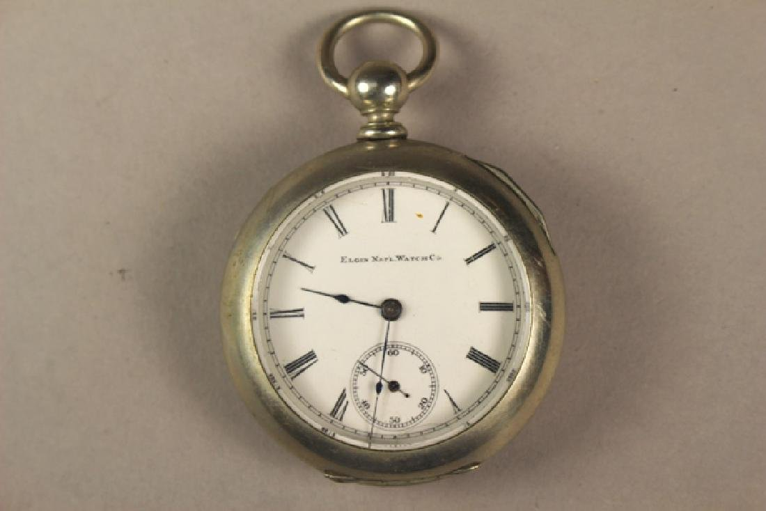 Elgin Pocket Watch in Deuber Silverine Watch Case