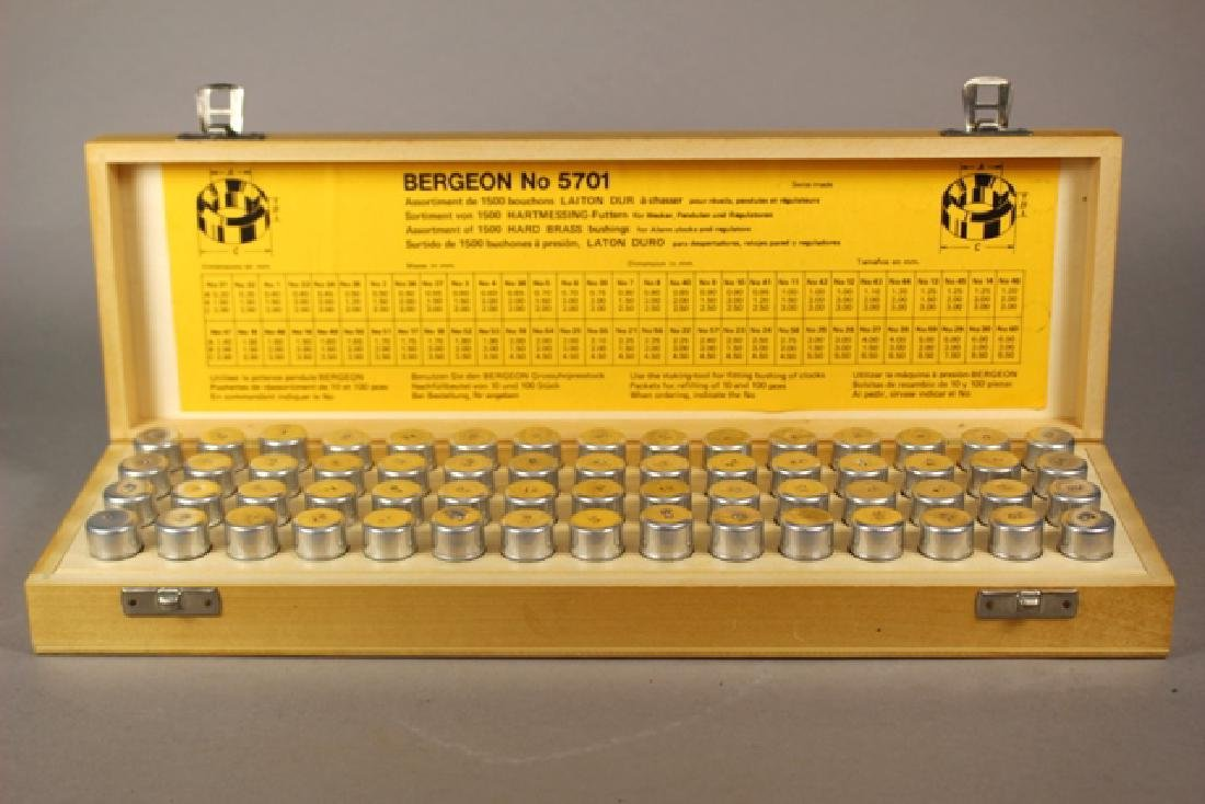 Bergeon No. 5701 Assorted 1500 Hard Brass Bushings