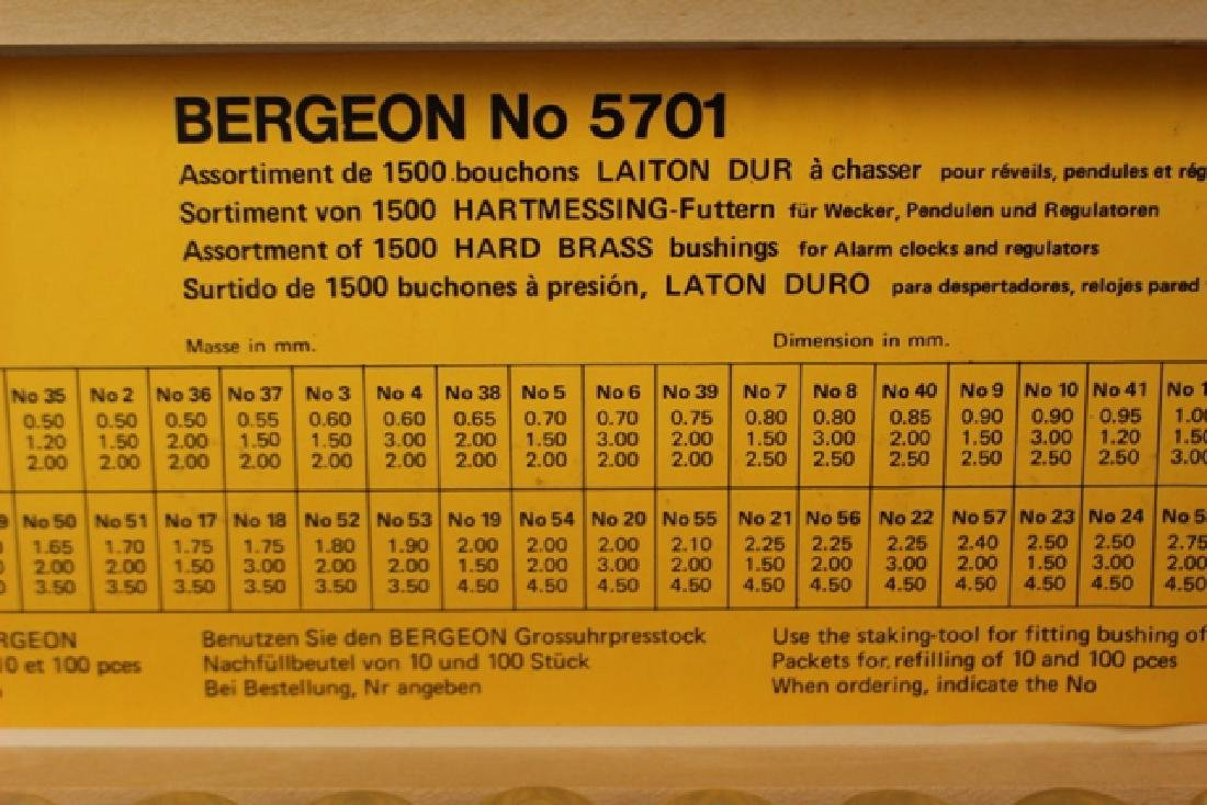 Bergeon No. 5701 Assorted 1500 Hard Brass Bushings - 2