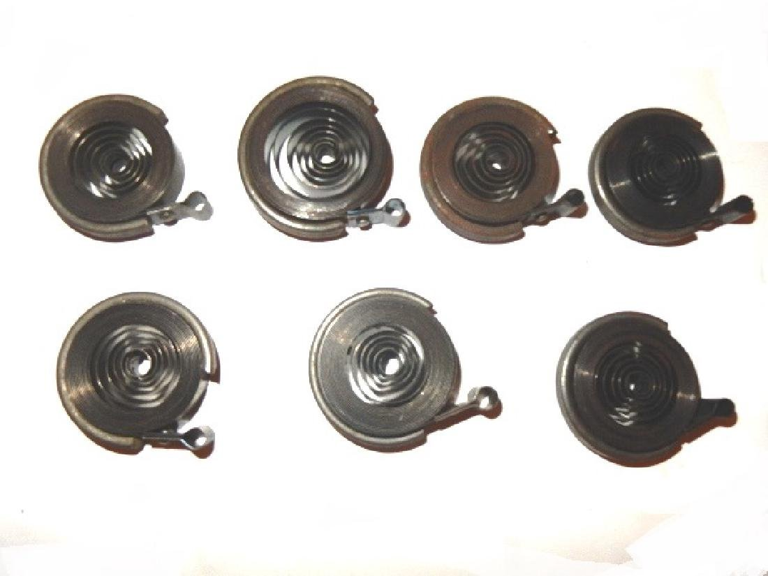 Collection of 35 Assorted Clock Mainsprings - 7