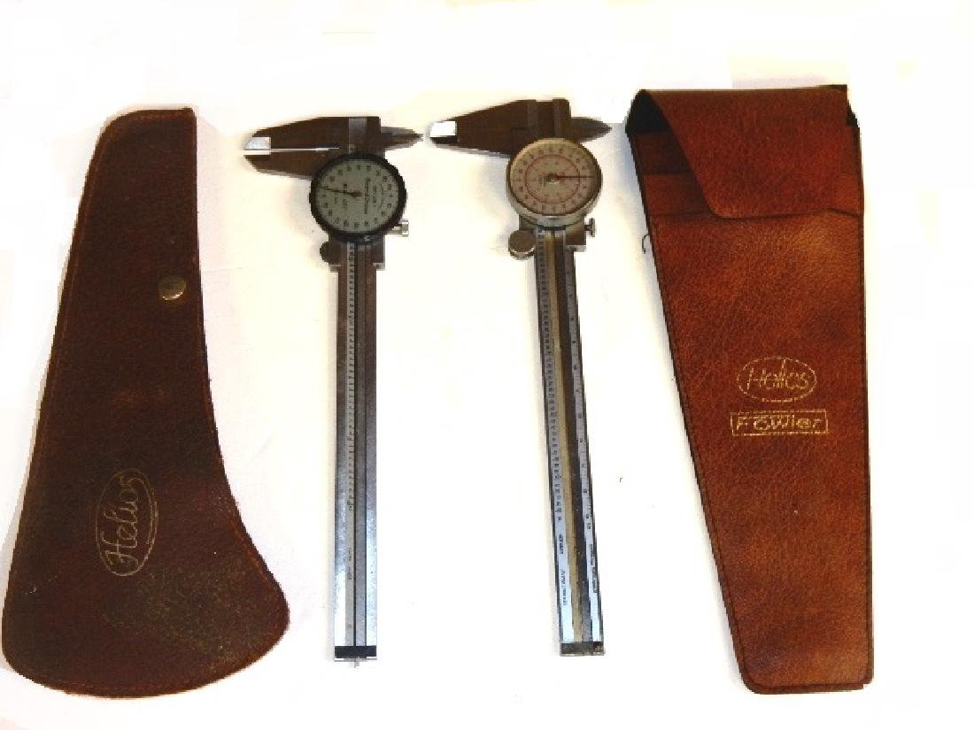 Group of Six Calipers and Two Micrometers - 9