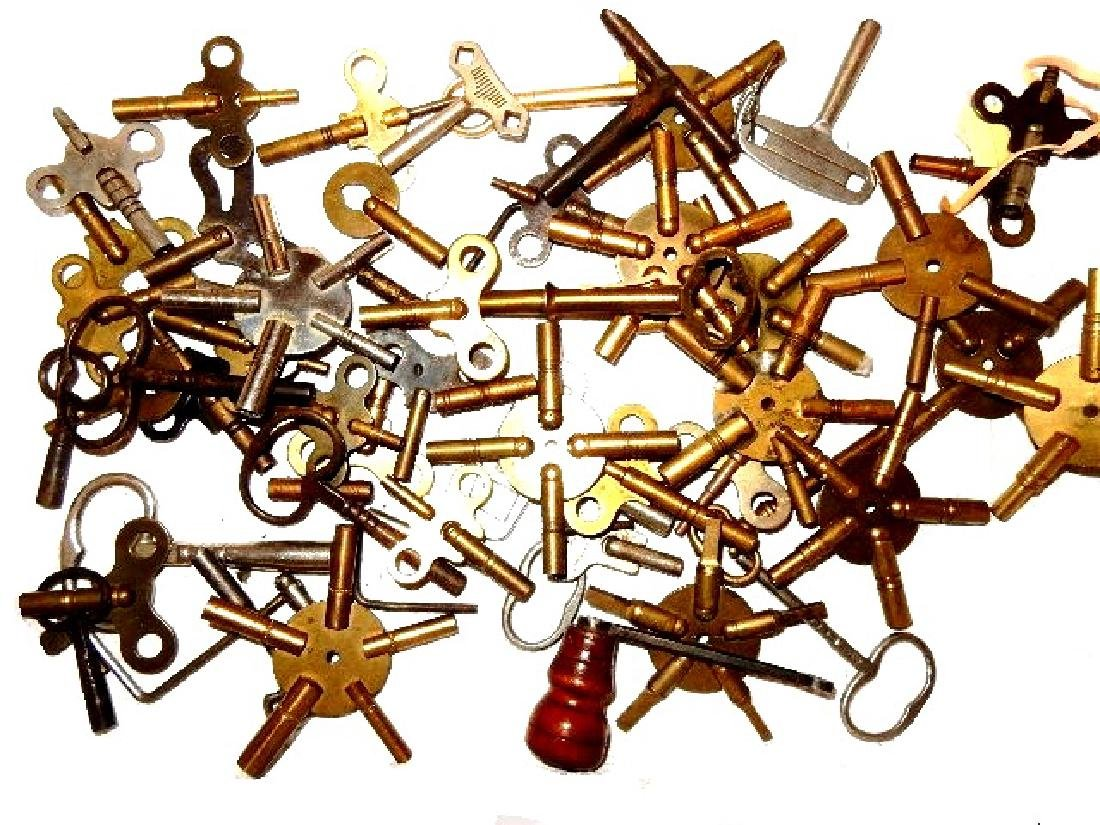 50+ Assorted Clock Keys