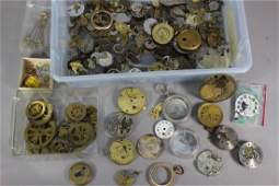 Collection of Watch Movements and Parts