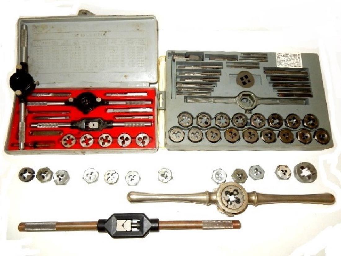Three Craftsman Die Sets and Bay State Handle Tool