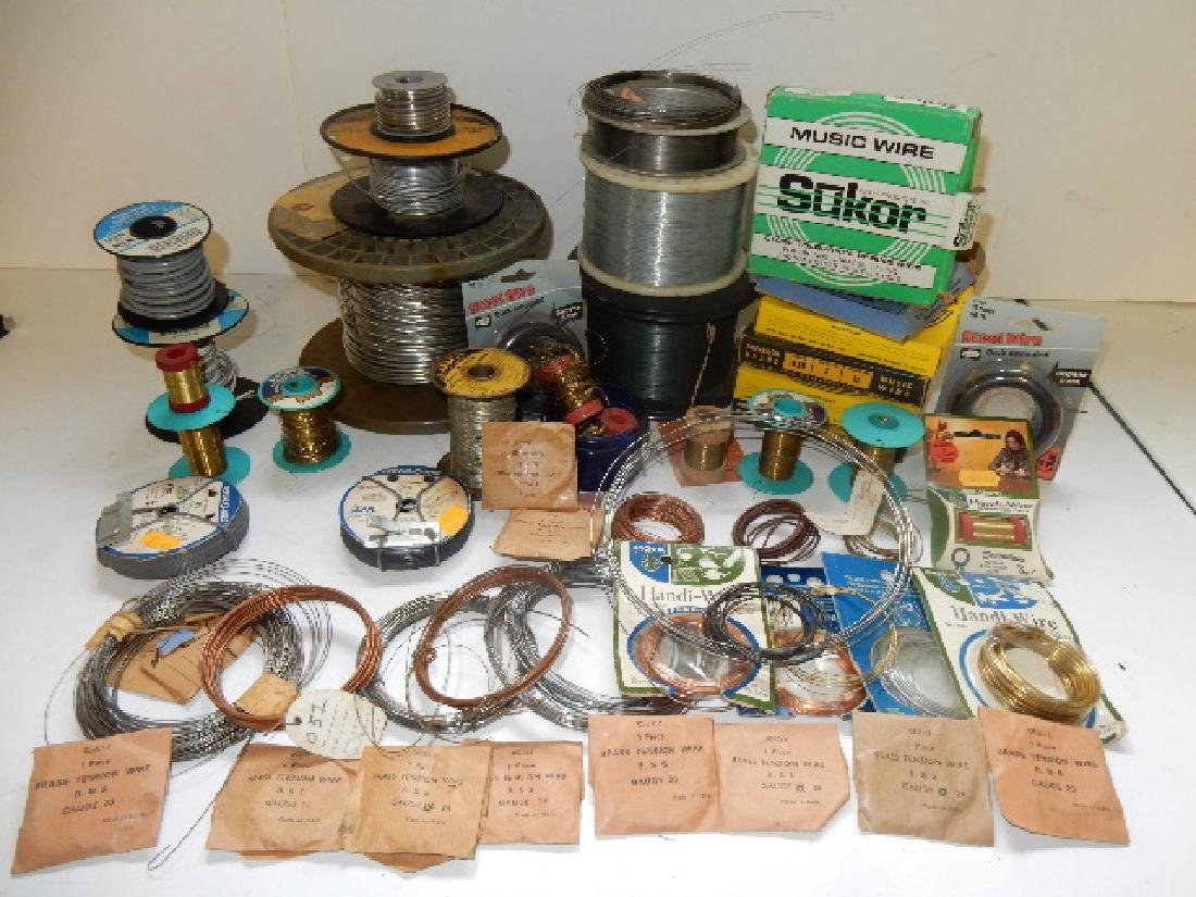 Large Selection of Assorted Wire and Sodder Material