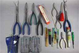 22 Piece Group Pliers Oilers Files  More