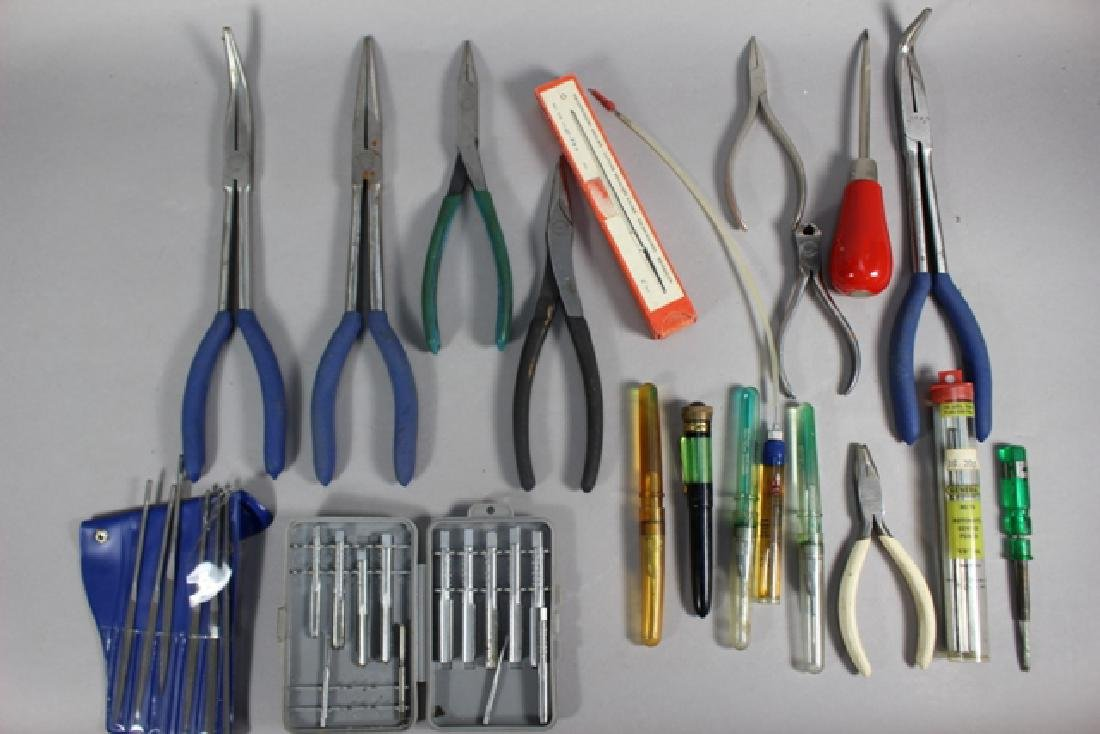 22 Piece Group, Pliers, Oilers, Files & More