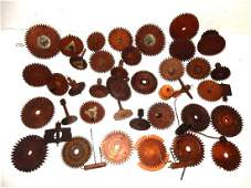 Early Wood Clock GearsWheel And Extras