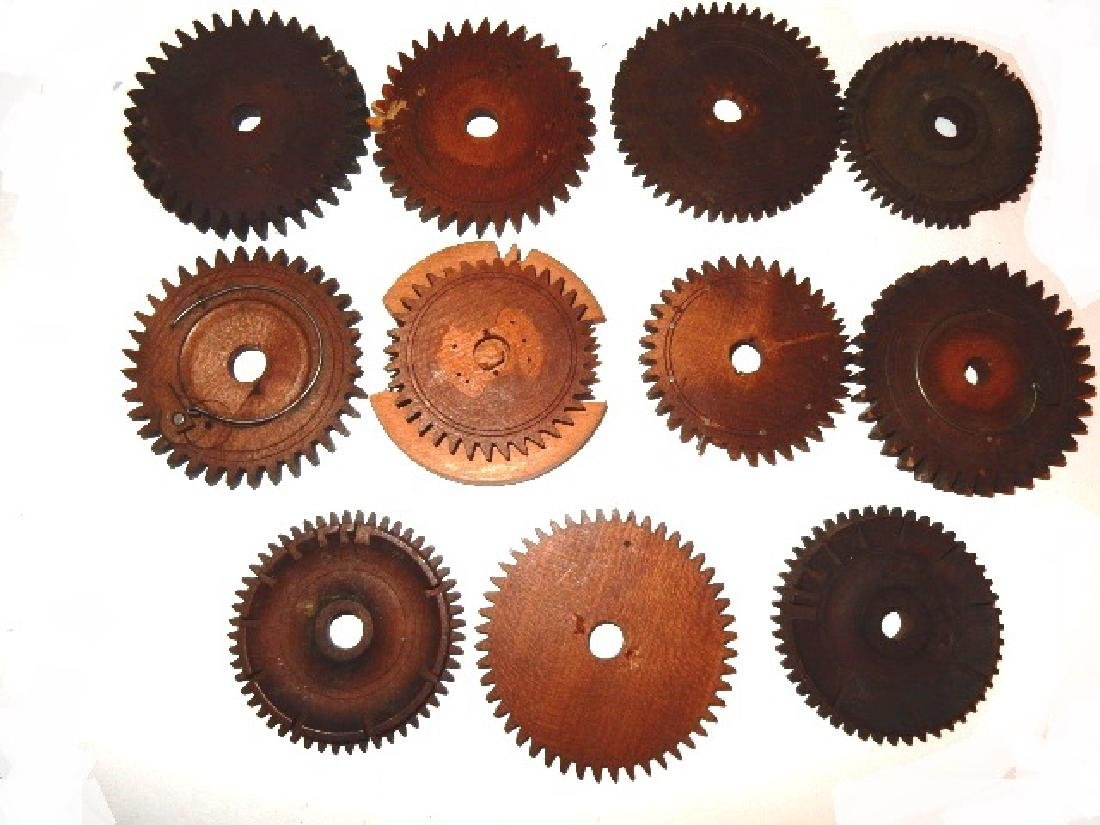 Early Wood Clock Gears/Wheel And Extras - 2