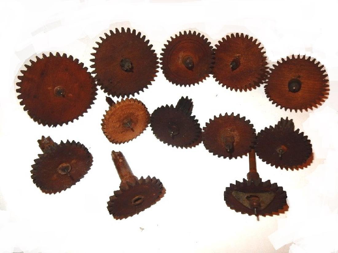 Early Wood Clock Gears/Wheel And Extras - 3