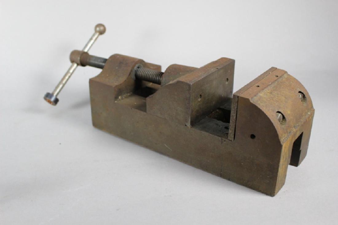 Three Vintage Machinist Drill Press Vises - 2