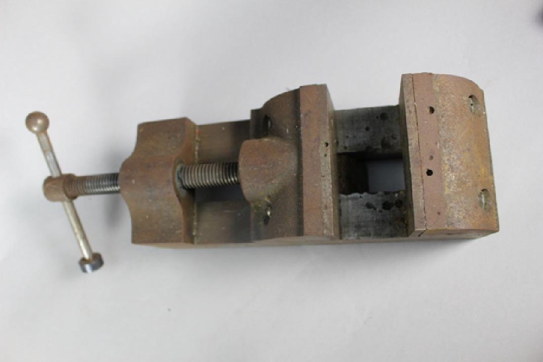 Three Vintage Machinist Drill Press Vises - 3