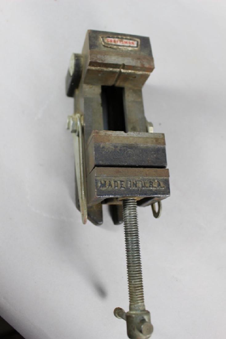 Three Vintage Machinist Drill Press Vises - 4