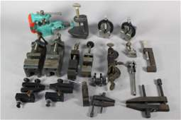 18 Various Small Clamps Lathe Vices  Spacers
