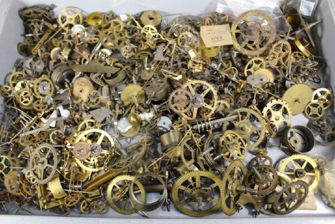 Lot of 100+ Mechanical Clock Gears & Parts