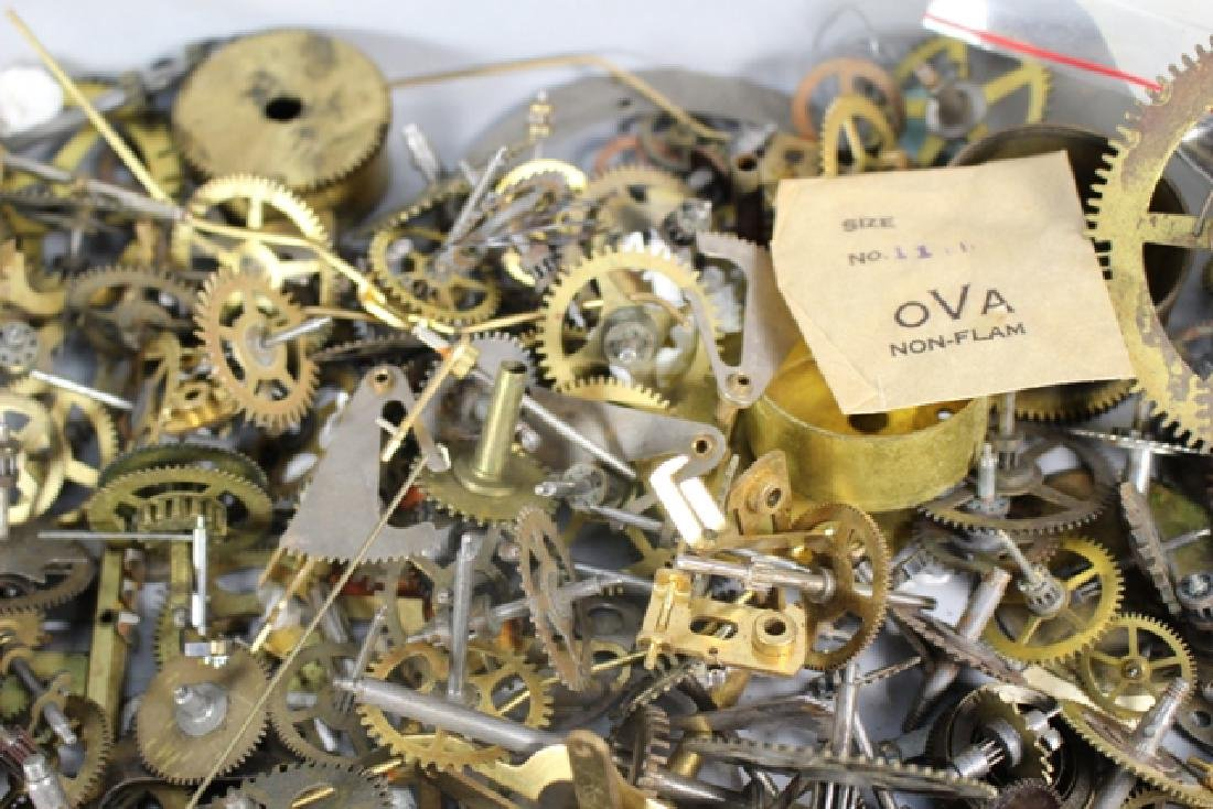 Lot of 100+ Mechanical Clock Gears & Parts - 2