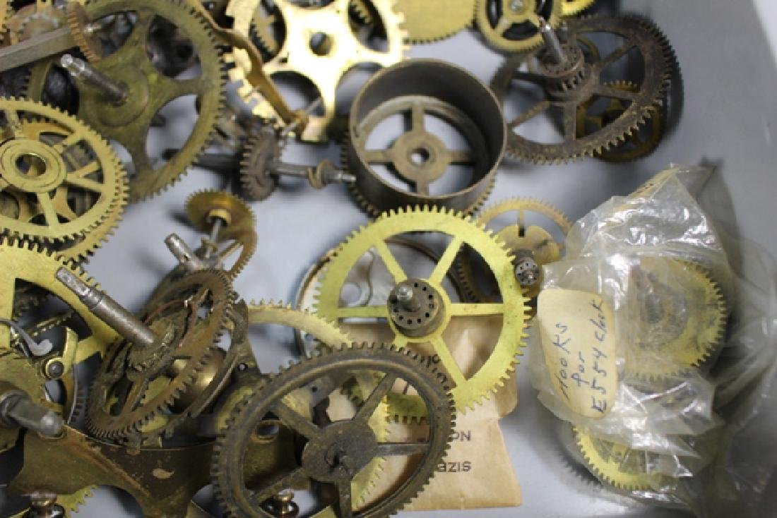 Lot of 100+ Mechanical Clock Gears & Parts - 3