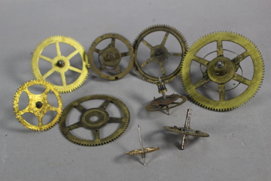 Lot of 100+ Mechanical Clock Gears & Parts - 4