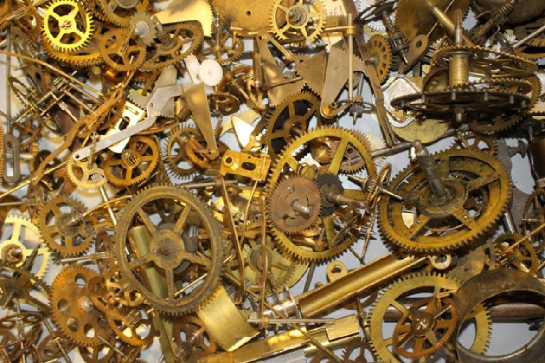Lot of 100+ Mechanical Clock Gears & Parts - 5