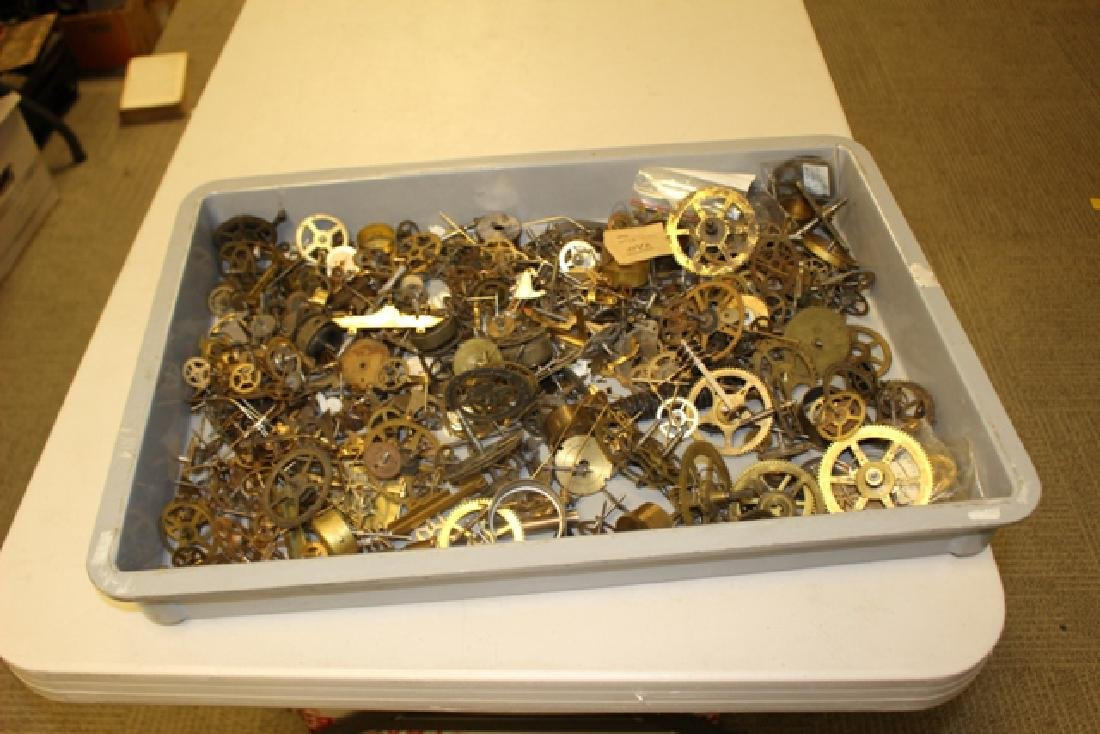 Lot of 100+ Mechanical Clock Gears & Parts - 6