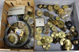 Collection of Mechanical Clock Parts and Pieces