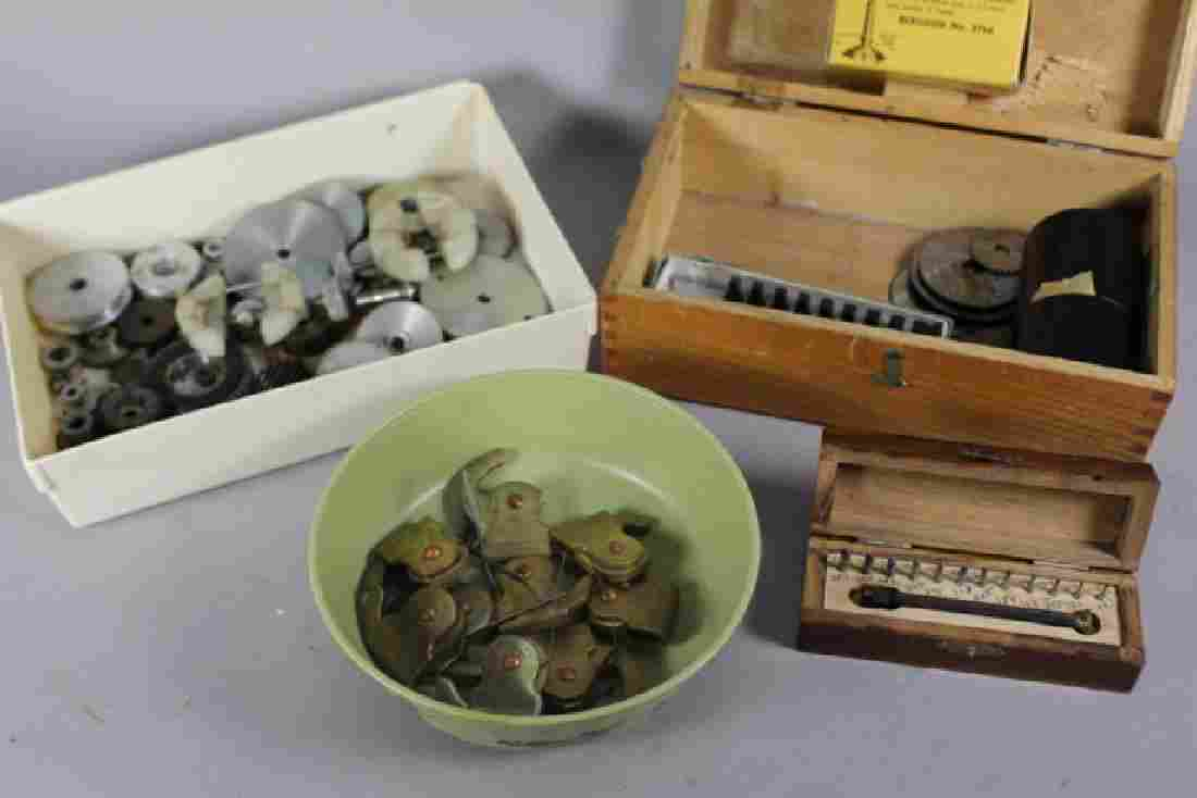 Collection of Clock Gears and Pendulum Pieces