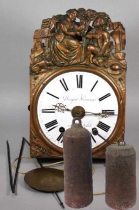 19th century French Morbier Wall Clock